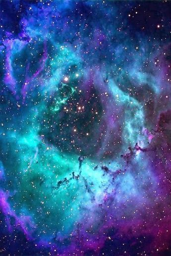 The Rosette Nebula lies at a distance of 5,000light-yearsfromEarth, and measures roughly 50 light years in diameter.