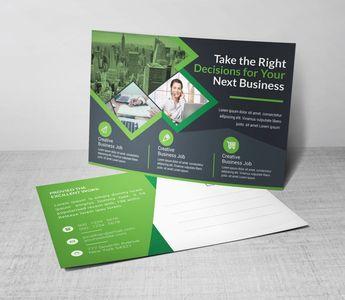 Transport Corporate Postcard Template 002366 - Template Catalog