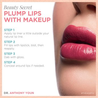 Not a fan of needles? You can create the illusion of fuller lips through the magic of cosmetics! Here are a few tricks.