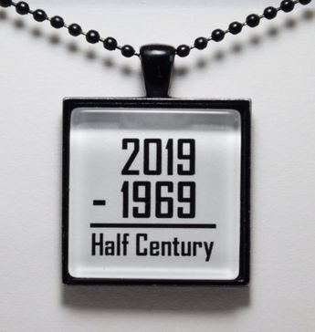 50th Birthday, Humor Birthday, Happy 50th Birthday Pendant, 50th Necklace, 50th Birthday Jewelry C L Murphy Creative CLMurphyCreative