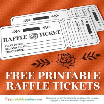 list of pinterest raffle tickets design ideas images raffle