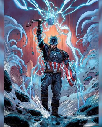 CAPTAIN AMERICA ((🎨 BY: @heagyjesse & @kevinmccoyart)) #Avengers #CaptainAmerica #Thor #MightyAvengers #MARVEL #MarvelComics…