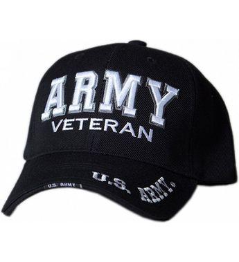 U.S. Army Veteran Text Shadow Mens Cap Black C9120Y3SLKZ