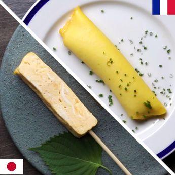 French v. Japanese Omelets
