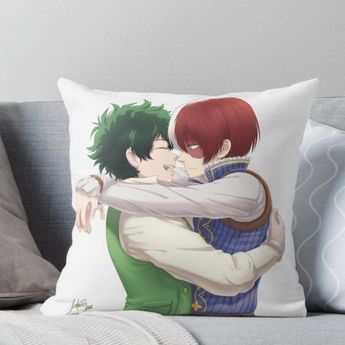 BNHA - Tododeku fantasy AU Throw Pillow