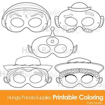 Unique Pajanimals Printable Coloring Masks Birthday Kids