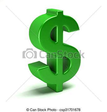 Dollar green symbol in style - csp31701678