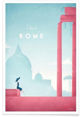 Rome par Henry Rivers en Affiche premium | Achetez en ligne sur JUNIQE ✓ Livraison fiable ✓ Découvrez de nouveaux designs sur JUNIQE ! #WallDecorIdeasTumblr