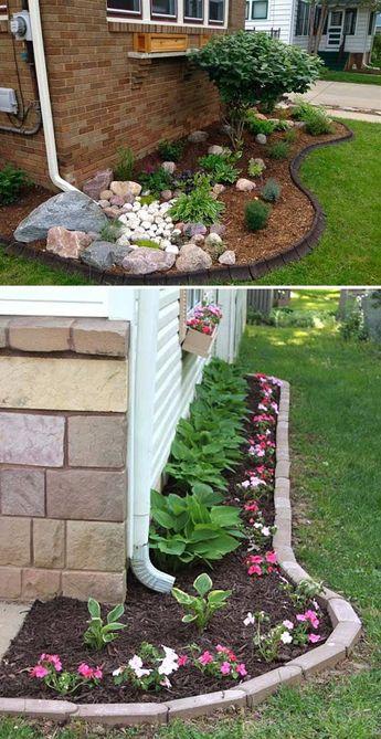 Design a Small Side Yard Garden Under The Downspout #sideyardgarden #downspoutlandscape
