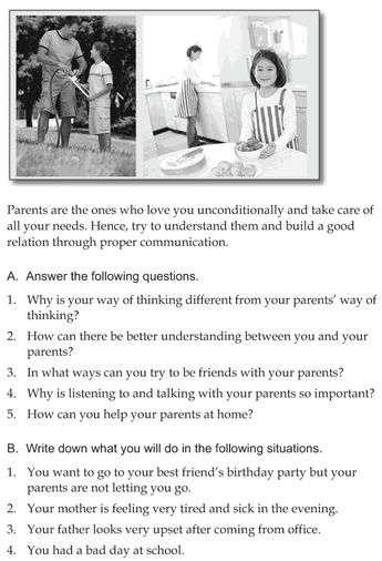 Character education and life skills grade 6 lesson 3 Communicating with parents 16