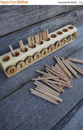 Spindle box, Montessori math, Educational wooden toy