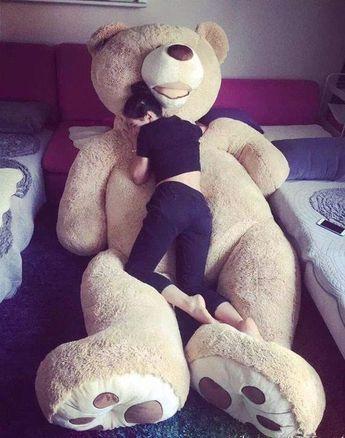 "PROMO! Giant Teddy Bear 79"" 130 Cm Big HUGE Toy Christmas Gift Free shipping #love #toys #bear"