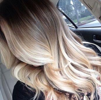 Stunning, dramatic blonde balayage.