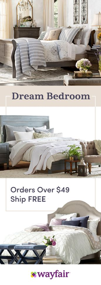 Is your dream bedroom a rustic farmhouse style? Cozy mid-century? Fret not, we've got you covered no matter your style. Shop wayfair.com for thousands of the best home products with FREE shipping on any order over $49!