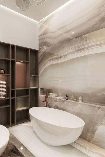 41 Elegant Stone Bathroom Design