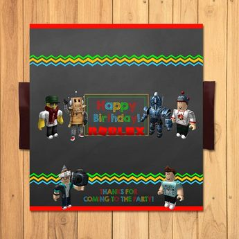 Roblox Candy Bar Wrapper Chalkboard Chocolate Wrap Party Favors