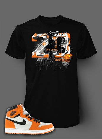 20c1eda4c0d2e6 ORANGE BAWS Black Sneaker Tees Shirt - Nike Air Just Do It