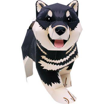 Shiba Inu (Black and Tan),Animals,Paper Craft,Animals,Paper Craft,Pet series,Mammals ,cute,dog,pet,easy