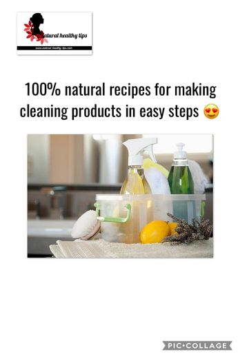 How to make effective natural cleaning products