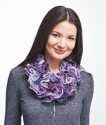 Paton's Pirouette Cowl - Orchid Shimmer