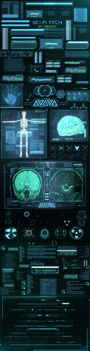 HUD Sci-Fi Infographic on Behance