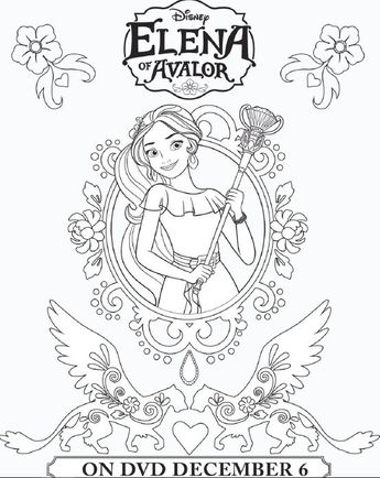 Elena Of Avalor Coloring Sheets More