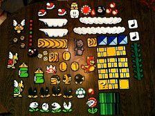 Décor Pixel Art En Magnets Mario Perles à Repasser Hama