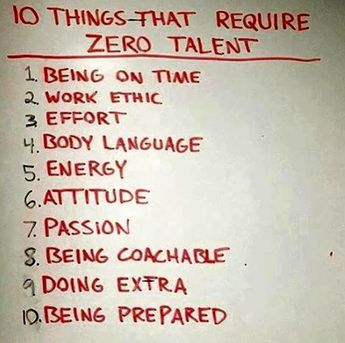 10 things that require zero talent: