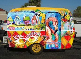 Leoma Lovegrove Mobile Art Studio.