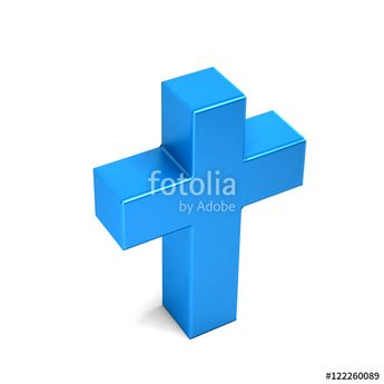 """Chriistian Cross. 3D Rendering Illustration"" Stock photo and royalty-free images on Fotolia.com - Pic 122260089"