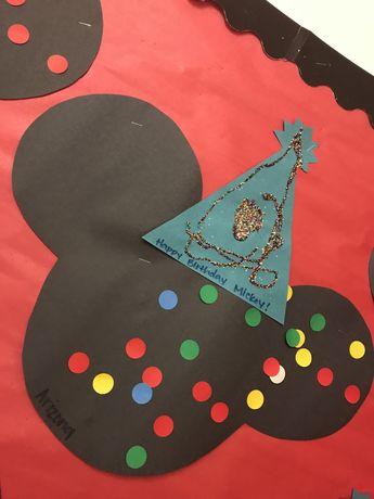Happy Birthday Mickey Mouse preschool Craft Art