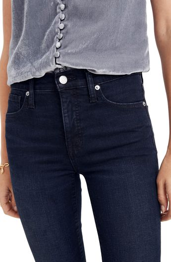 Madewell 9-Inch High Waist Skinny Jeans (Cold Blue)