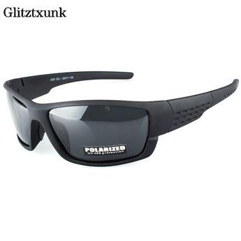 7f98e79b0d Glitztxunk Brand Men Polarized Sunglasses Designer Sport sunglasses Driving  Fishing Sun Glasses Black Frame Eyewear Accessories