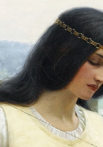 Stitching the Standard by Edmund Leighton, 1911. (detail) #Art #inspiration