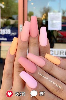38,679 Likes, 397 Comments - 23 Nail Designs and Ideas for Coffin Acrylic Nails 2019