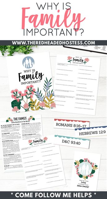 Why Is Family So Important Yw Lesson Worksheet