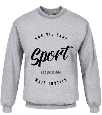 461998d4c Une vie sans sport est possible mais inutile t-shirt druck handball