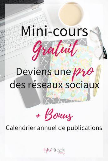 Mini-cours : Deviens une pro des réseaux sociaux | Entrepreneuse + Blogging | Graphiste