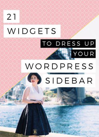 21 Widgets to Dress up Your Wordpress Sidebar