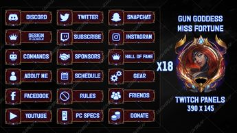 Fortnite Twitch Panels By Lol0verlay Design Design Overlays I