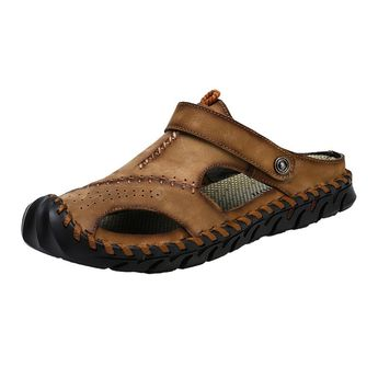 Genuine Leather Men Shoes Summer Leisure Beach Men'S Sandals High Quality
