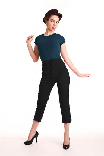 Steady Clothing 50s High Waist Swallow 7/8 pants