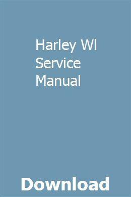 Harley Wl Service Manual
