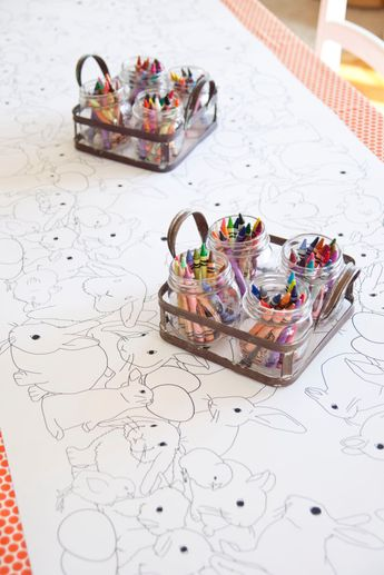 Easter Decorations Table Runner Coloring Page Spring Wedding Decor Bunnies Bunny Themed Tablecloth Kids Corner Egg Decorating Craft Activity