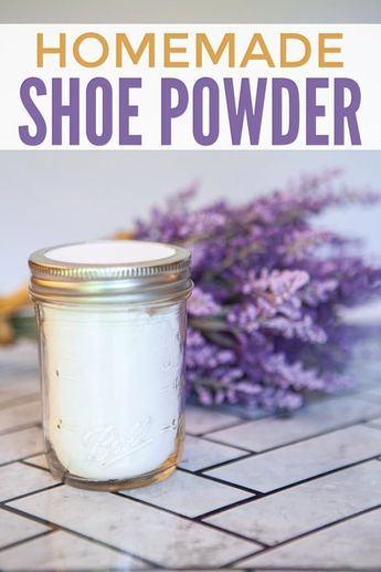 Skip the expensive show powders and sprays and make your own homemade shoe deodorizer! It's really easy and works great!