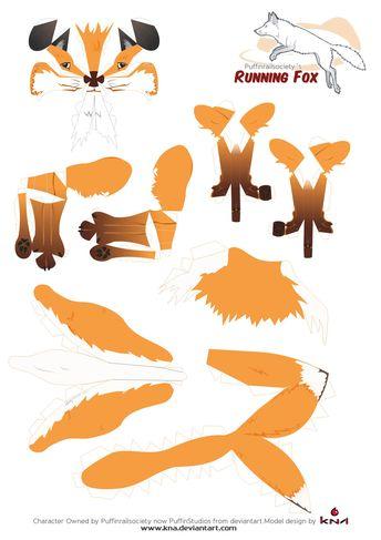 Quick Brown Fox papercraft Pattern by Kna.deviantart.com on @DeviantArt