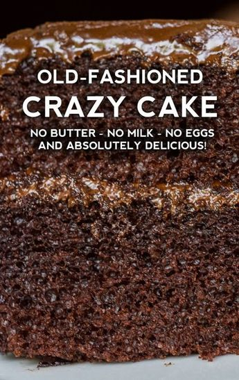Old-Fashioned Crazy Cake