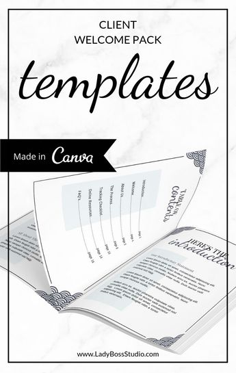 Turquoise Client Welcome Pack Templates for Canva | Lady Boss Studio