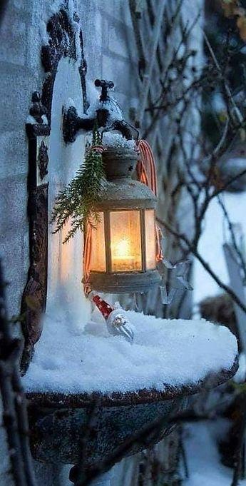 Lueur réconfortante dans le froid de l'hiver