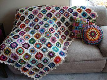 Manta de Crochet Granny
